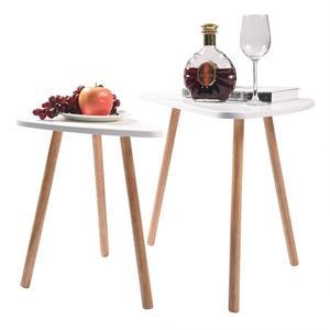 Image 5 - 2 قطعة طاولات خشبية حديثة مجموعة مكاتب لغرفة النوم غرفة المعيشة ديكور