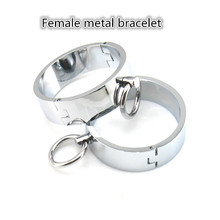 New stainless steel female handcuffs sex products bdsm bondage restraints fetish games erotic toys adult for women