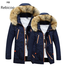 Winter Jacket Men 2018 Brand Casual Warm Parka Fashion Detachable Fur Hooded Collor Thicken Man Jackets Outwears SIZE S-3XL