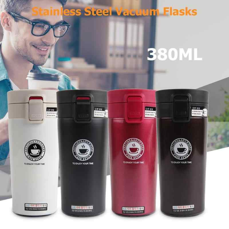380ml Double Layers Stainless Steel Thermo Cups Mug Bottle Vacuum Flasks Stainless Steel Travel Vacuum Flask Thermo Water Bottle