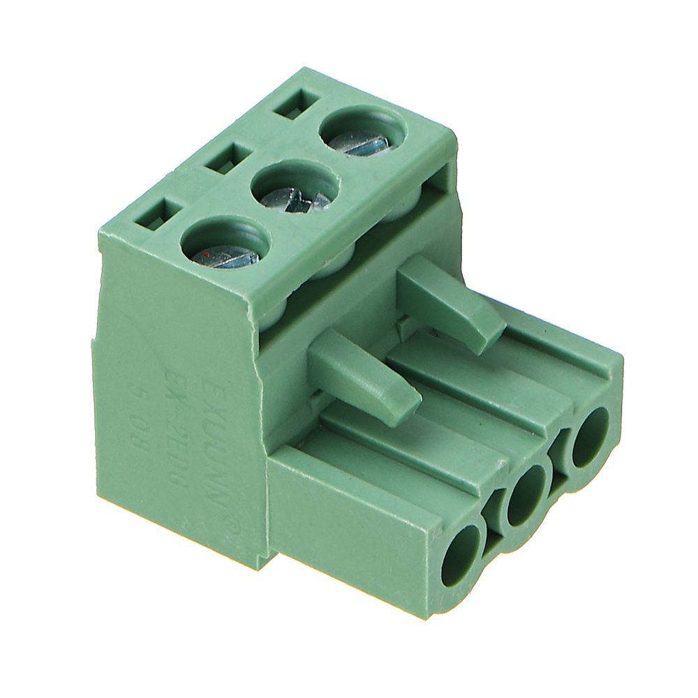 LEORY 2 EDG 5.08mm Pitch 3Pin Plug-in Screw PCB Terminal Block Connector Right Angle