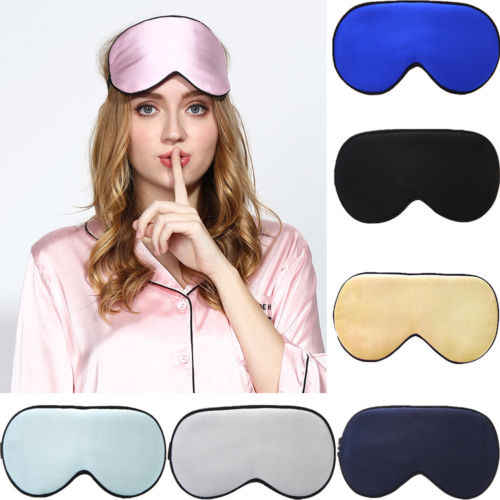 Portable Travel Silk Sleeping Mask Eye Mask for Men Women Natural Pure Mulberry Silk Patch Eye shade