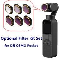 Sunnylife Gimbal Camera Lens Filter MCUV Adjustable CPL NDPL ND64 PL ND32 PL ND4 ND8 Filter for DJI OSMO POCKET Accessory 1 set