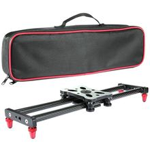 15.7 inch Portable Carbon Fiber Camera Slider Dolly Track With 4 Roller Bearing For Video Movie Photography Making Stabilizing