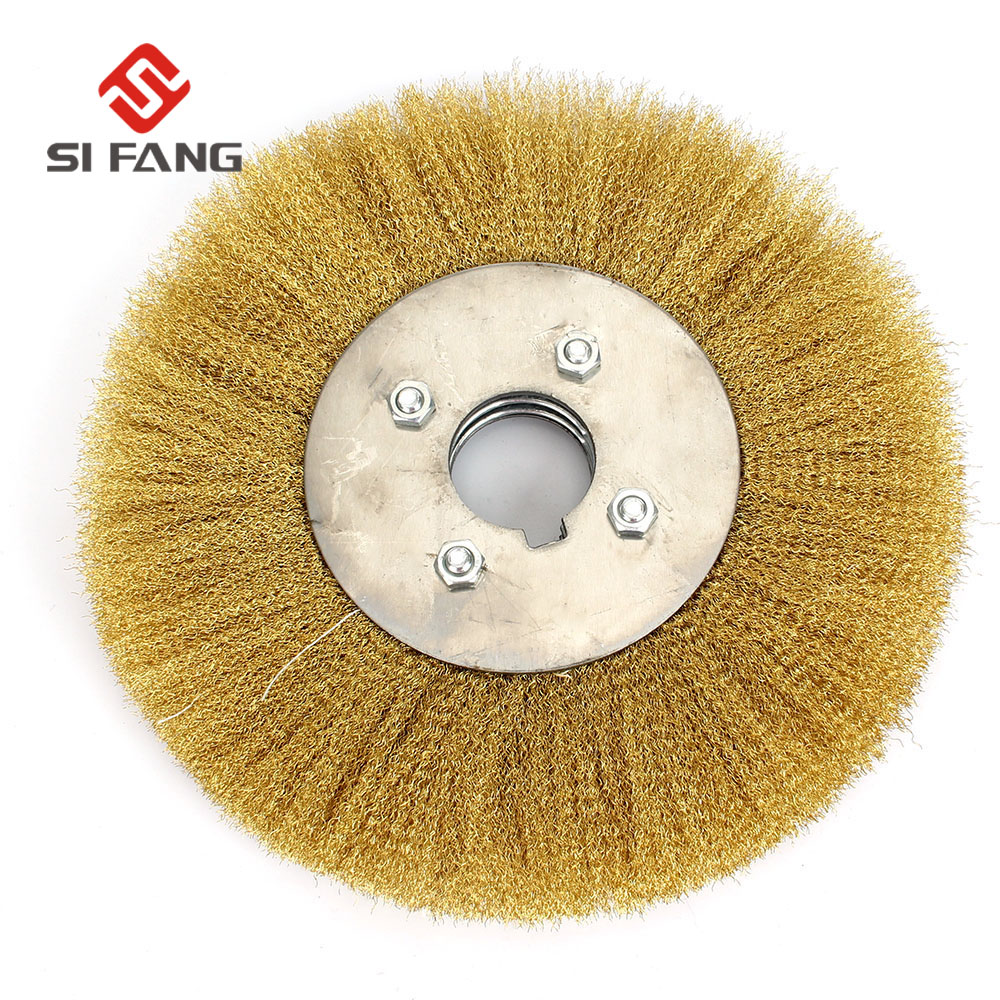 2pieces 150mm*16mm Arbor Hole Stainless Steel Wire Wheel Brush