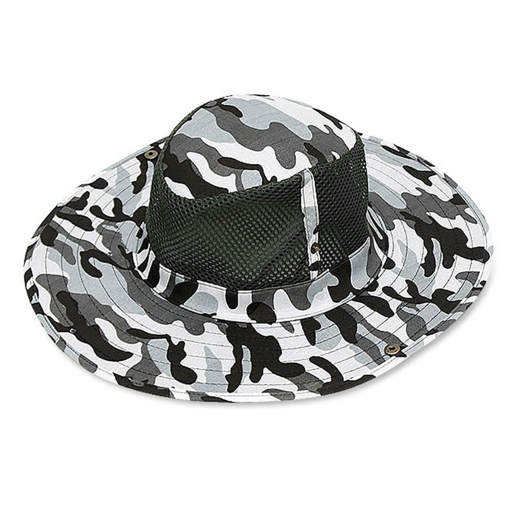 Fishing Sun Resistant Hat Breathable Mesh Climbing Camouflage Cap Sunhat USA