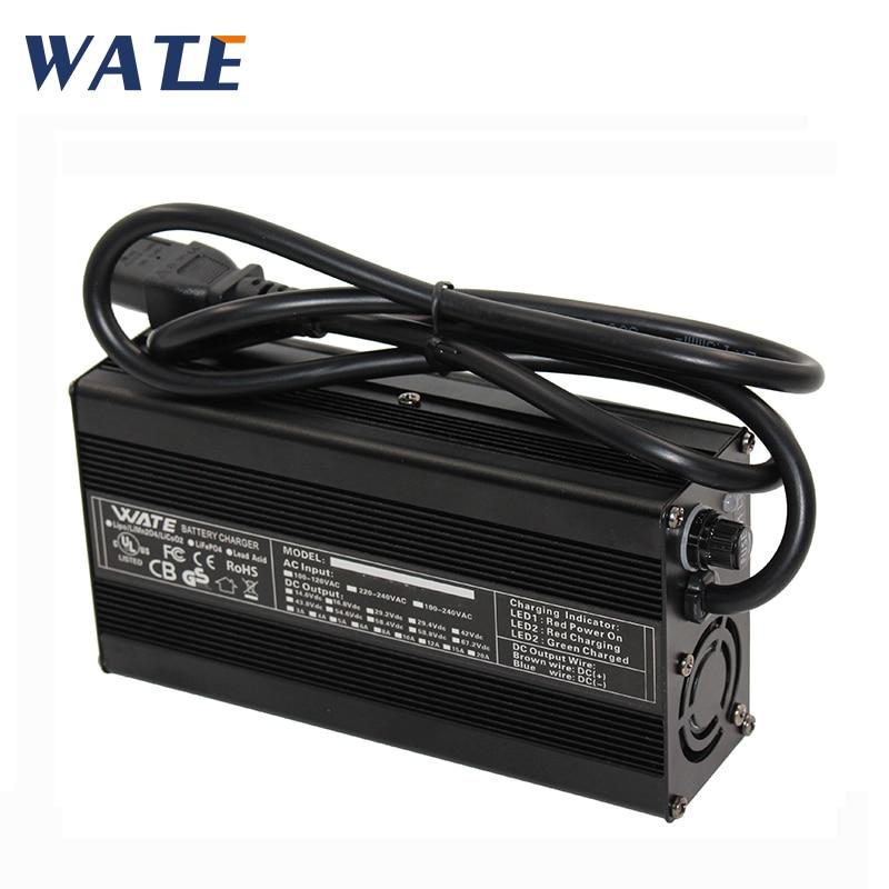 Chargeur de batterie au plomb intelligent 60 V 3A, chargeur de batterie de voiture avec pince crocodile
