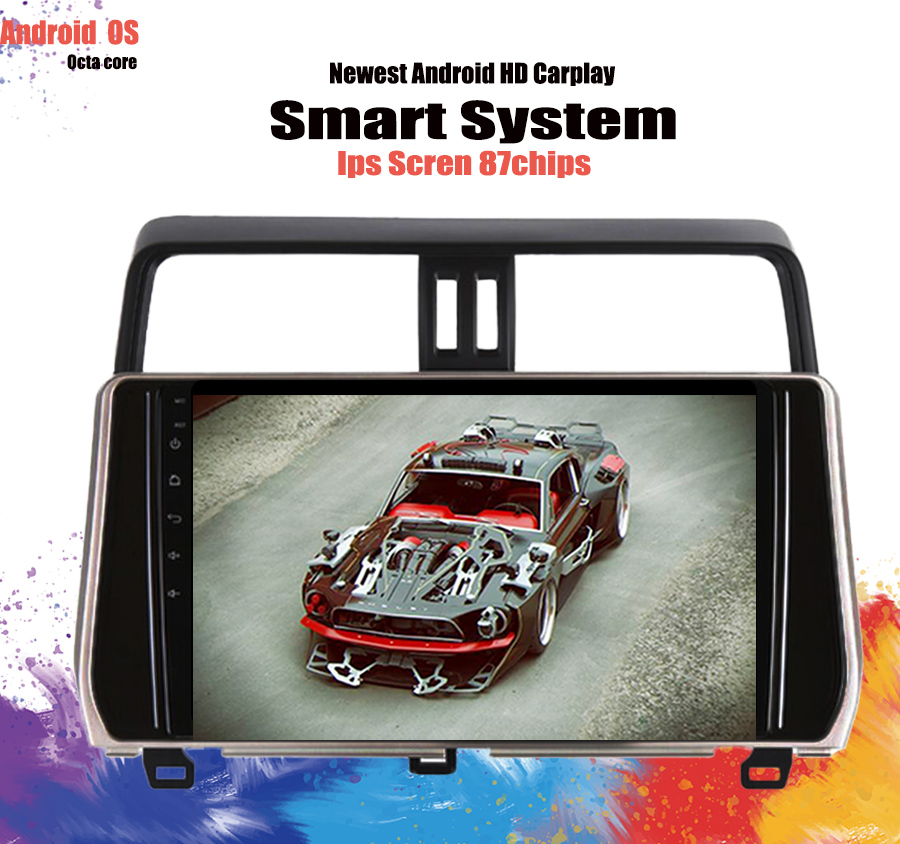 Android 10.0 car dvd multimedia player for <font><b>Toyota</b></font> Prado 120 <font><b>150</b></font> Land Cruiser <font><b>2018</b></font> 2019 Car <font><b>Radio</b></font> GPS Navigation 8 Core Cassette image