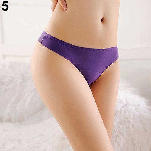 Women Sexy Seamless Low Rise G-String Briefs Thongs Underwear Knickers   Panties