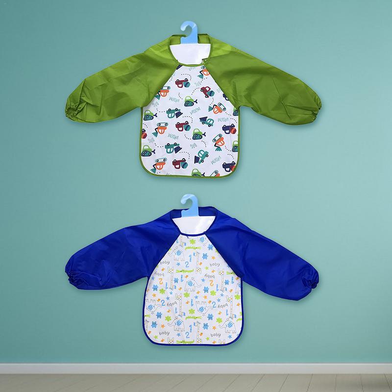 Kleuterschool Baby Schilderen Schort Ademend Waterdicht Vlekbestendig Omkeerbare Gown Art Schilderen Accessoires Waterdichte Gown Fancy Colors