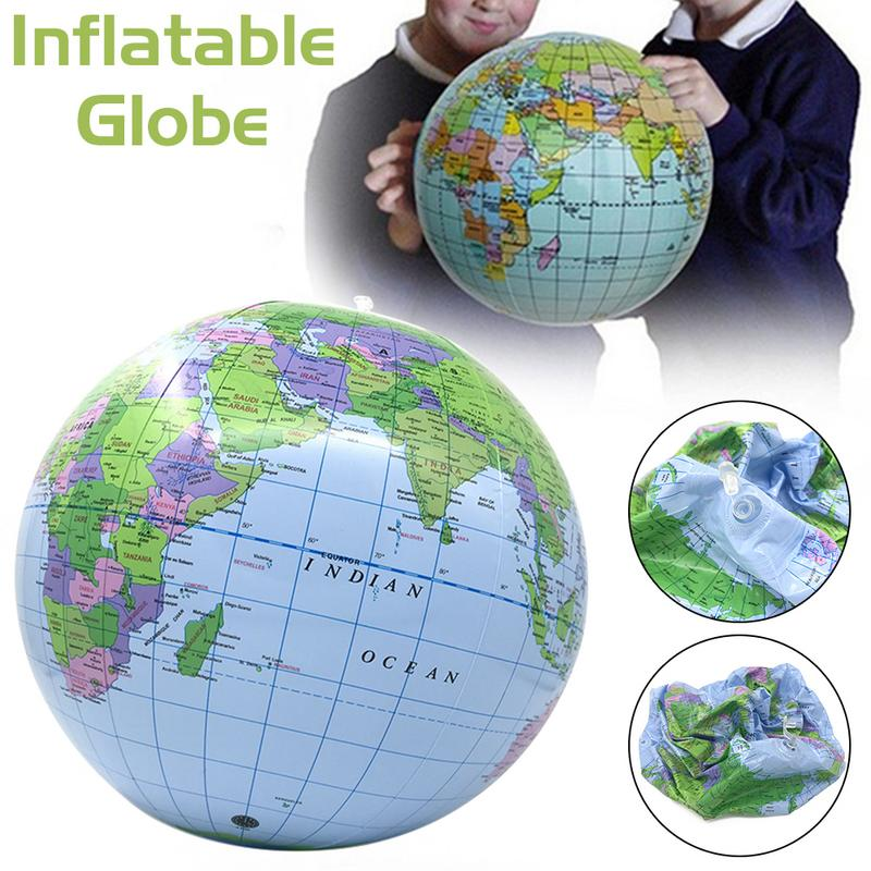 Kids Inflatable Globe Beach Racket Racquet Ball Volleyball Play Water Balloon Kid Teaching Swimming Pool Water Games Toy Ball