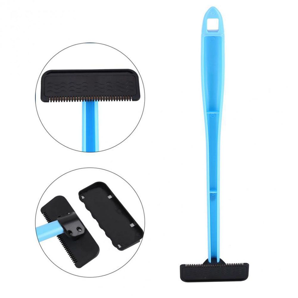 Personal Care Appliances Men Manual Back Hair Shaver Plastic Long Handle Razor For All Body Parts Hair Blade Blue