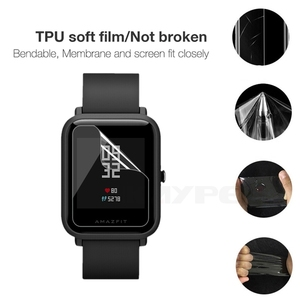 Image 2 - 5個amazfitビット超薄型antiexplosion tpuスクリーンプロテクターxiaomi huami amazfit bipペースliteユーススマート腕時計