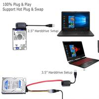 """5 3 SATA/PATA/IDE To USB 2.0 Adapter Converter Cable For Hard Drive Disk 2.5"""" 3.5"""" R20 (4)"""