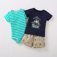 Unisex Baby Clothes Set Summer Baby Boy Clothes Baby Girl Outfits Infant Clothing Kids Clothes Set Rompers Shorts T shirt 6 24M