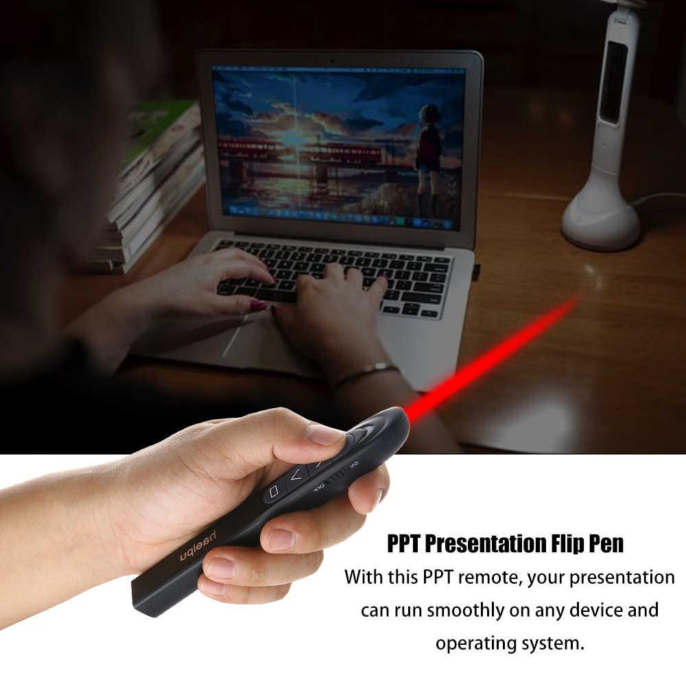 נייד אלחוטי מגיש מצביעי 2.4 GHertz USB אלחוטי אדום עט שלט רחוק PPT Powerpoint מצגת Flip עט