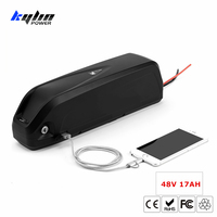 48V 17AH Lithium ion Electric E Bike Battery Hailong Ebike with 30A BMS with 3400mah 18650 Cells for Bafang Bicycle Motor