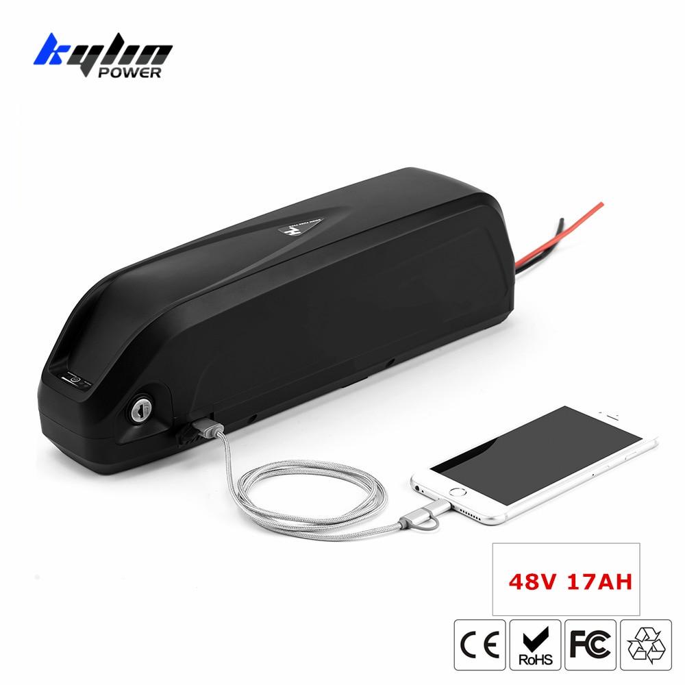 Batterie de vélo électrique d'origine 48 V 17AH Lithium ion E Hailong EBike avec 30A BMS pour 750 W BBS02 1000 W BBSHD Bafang moteur de vélo