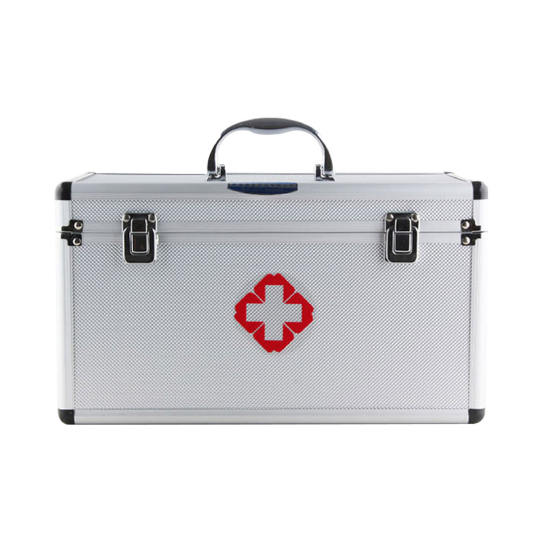 Red First Aid Emergency Medical Kit Survival Box Empty Medicine Storage Box Multi Layered Family Medical