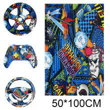 NEW Sale 50*100cm Fashion Look Water Transfer Printing Film Hydrographic Film PVA Film Car Motorcycle Decoration Stickers