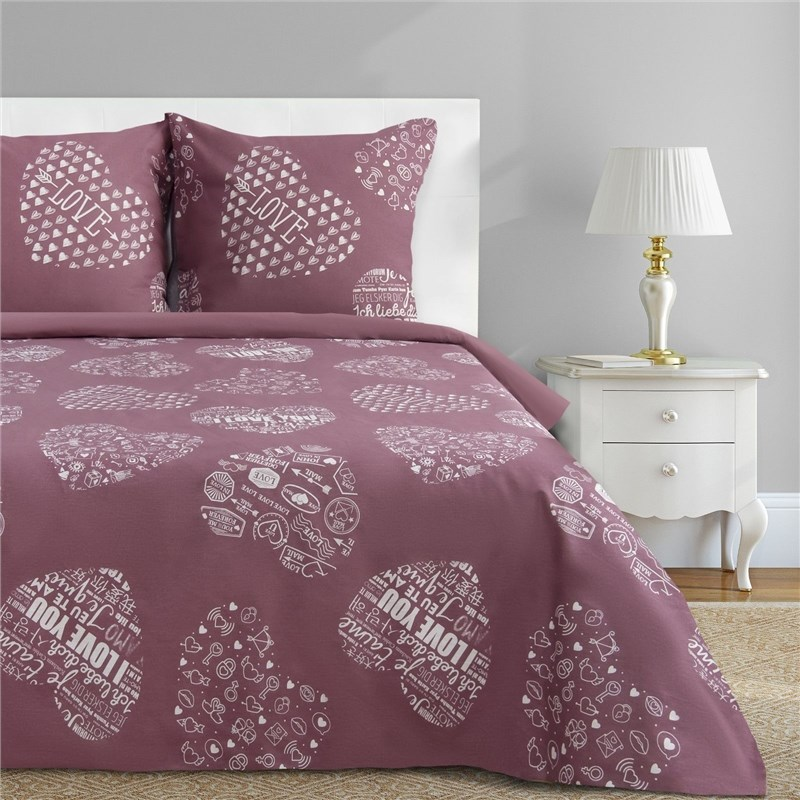 Bed Linen Ethel Euro Te amo (Type 2) 200x217 cm, 220x240 cm, 70x70-2 pcs, calico calico print crochet back mix