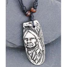 Vintage Style Yak knochen pulver Carving Tribal Chef Adler Charms Anhänger Halskette Geschenk MN226