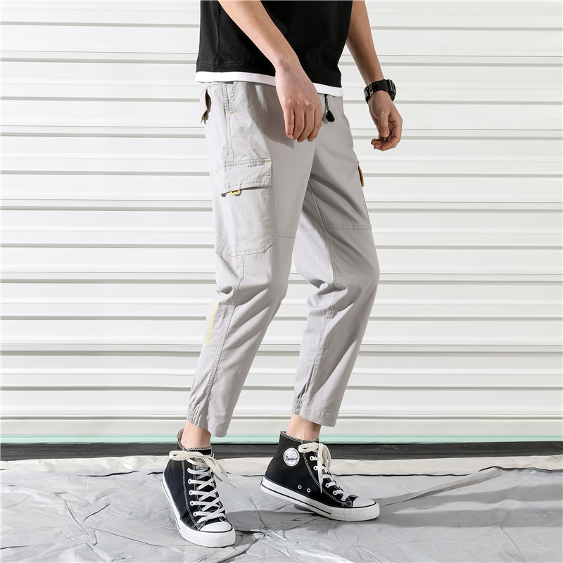 Pants Men Tooling Wind-Trousers Loose Joggers Hip-Hop-Trend Man Streetwear Fashion Casual