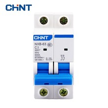 CHNT Mcb Circuit Breaker Household Mini Two Pole Circuit Breaker NXB-63 2P 3A 400V 50HZ Air Switch  New DZ47 new 29692 circuit breaker compact ns100h tmd 63 a 4 poles 4d
