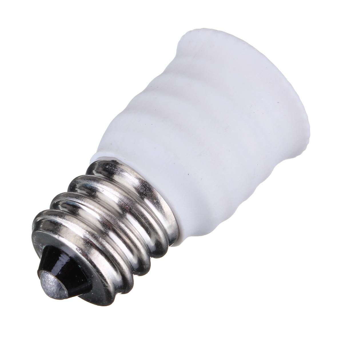 Conversion <font><b>Lamp</b></font> Holder Adapter Converter E12 To <font><b>E14</b></font> <font><b>Lamp</b></font> Base <font><b>Socket</b></font> For LED Halogen CFL Light Bulb Black White image