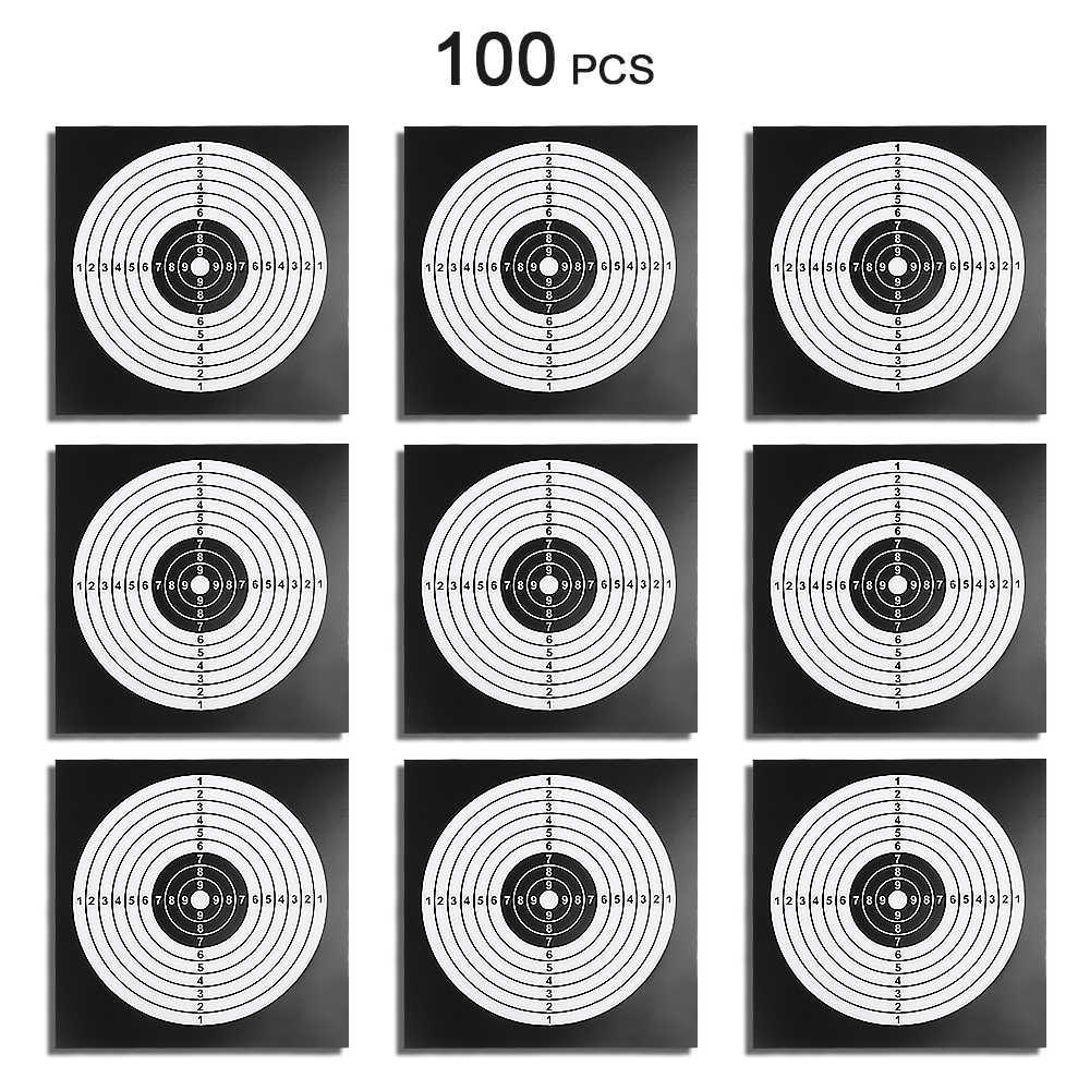100 قطعة الهدف ورقة الألوان الهدف الملصقات مربع اطلاق النار ممارسة ورقة ورقة 14X14 سنتيمتر الهدف ورقة القوس و السهم