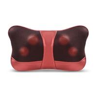 MARESE Home Car Dual use Massage Pillow Shiatsu Back Neck Shoulder Waist Massager Electric Infrared Heated Kneading Massagem