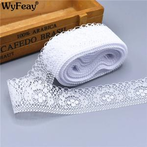WyFeay White Lace Trim Embroidered african lace fabric