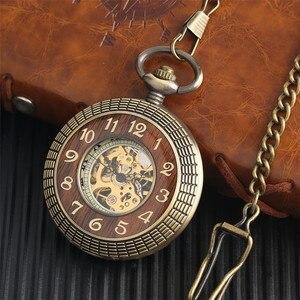 Image 5 - หรูหราไม้ออกแบบนาฬิกาพ็อกเก็ตVintageจี้นาฬิกาHollow Hand Windingนาฬิกาของขวัญสร้อยคอ