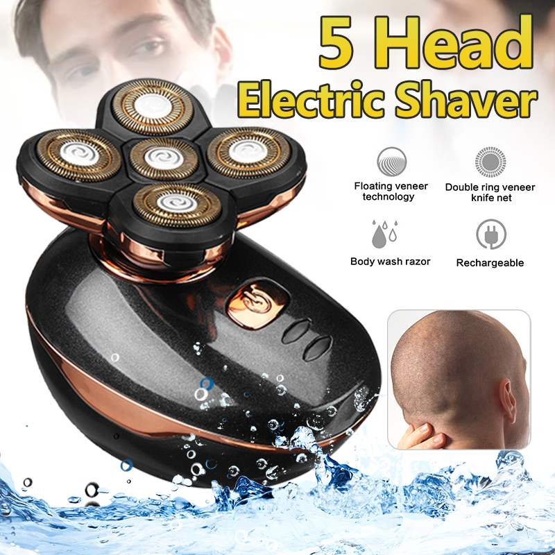 USB Charge 5 Floating Shaver Heads Waterproof Electric Shavers Hair Trimmer Cordless Clipper beard shaver cleaning HaircutUSB Charge 5 Floating Shaver Heads Waterproof Electric Shavers Hair Trimmer Cordless Clipper beard shaver cleaning Haircut