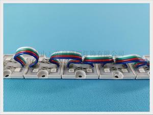 Image 2 - Módulo LED RGB 5050, luz de módulo de píxeles LED impermeable para Letras de señal y Canal SMD5050 DC12V, 4 unidades led, envío gratis