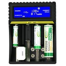FFYY-BTY-V407 зарядное устройство Li-Ion Li-fe Ni-MH Ni-CD быстрая смарт-зарядка для 18650 26650 6F22 9 V AA AAA 16340 14500 батарея C