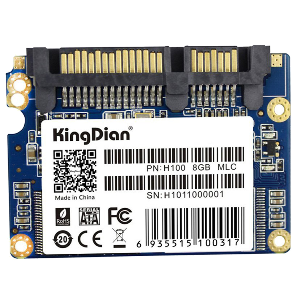 KingDian 1.8 inch Half Slim SATA II H100 Small Capacity SSD Promotion Internal Solid State Drive Speed Upgrade Kit for Games M image