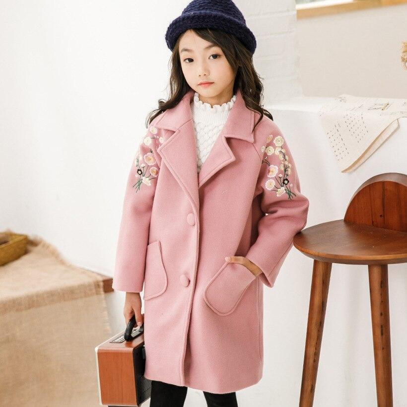 c65e94ba3cd Winter Jackets Girls Coat Teenage Outerwear Woolen Jacket Coat For Girl  Trench Coat Kids Children Coats Girl Clothes - aliexpress.com - imall.com