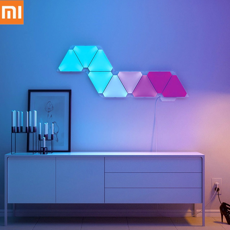 <font><b>Xiaomi</b></font> <font><b>Youpin</b></font> Nanoleaf Green Noble Smart Light Kit 4PCS Wifi APP Voice Remote Control Colorful Smart Light Panel Updated Version image