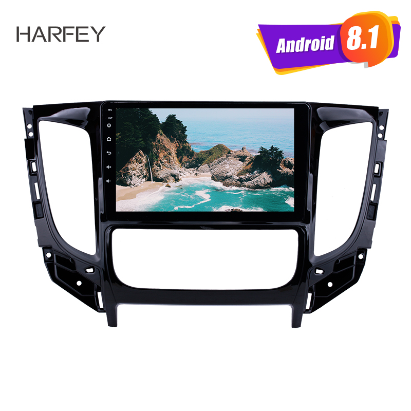 Harfey Android 8 1 Bluetooth Radio 9 for 2015 Mitsubishi TRITON Auto A C with GPS