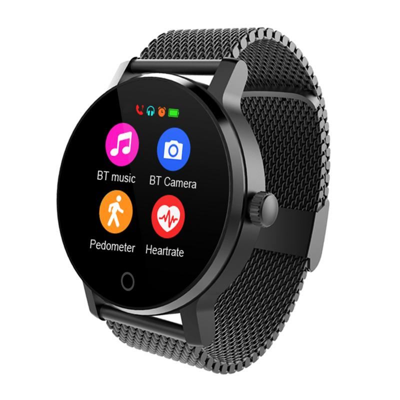 SMA-09 montre intelligente hommes 1.28 pouces Bluetooth appelant la musique jouant la surveillance de la fréquence cardiaque Smartwatch reloj inteligente amazfit