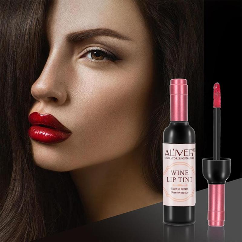 Red Wine Bottle Lips Makeup Moisturizer Long Lasting Lip Gloss Lipstick Waterproof Cosmetic Beauty Makeup Matte Maquillaje Tools 2