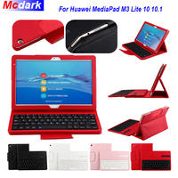Leather Tablet Case For Huawei MediaPad M3 Lite 10 BAH W09 BAH AL00 10.1'' 2 in 1 Detachable Wireless WiFi Bluetooth Keyboard