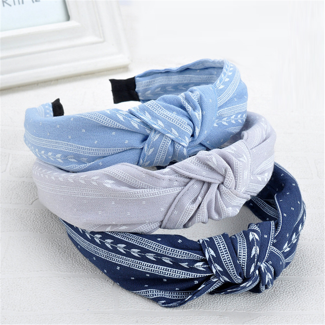 2020 New Women Bowknot Wide Hairband Cross Knotted Head Band Girls Fashion Fabric Headband Solid Head Hoop Lady Hair Accessories