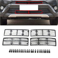 4PCS/set Car Stainless Steel+plastic Front Grille Insect Net for Toyota RAV4 2016 2017 2018 Accessories