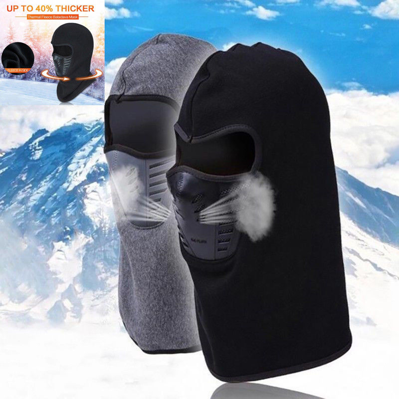 2019 New Men Women Waterproof Ski Face Mask Balaclava Tactical Winter Fleece Windproof Motorcycle Unisex Mask