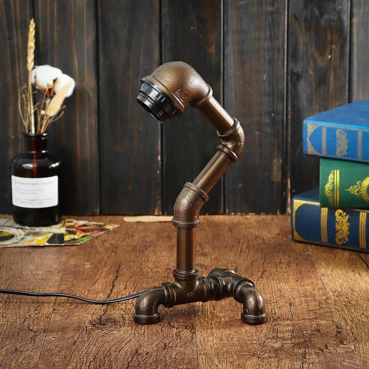 Винтаж E27 лампы промышленная водопроводная труба настольная лампа крепления для фонаря домашние Спальня украшения подарки