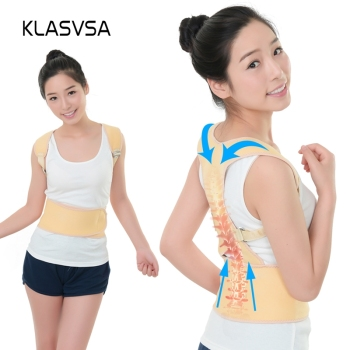 KLASVSA Adjustable Magnet Back Orthopedic Belt Men Women Shoulder Corset For The Back Posture Corrector Braces Supports Bandage