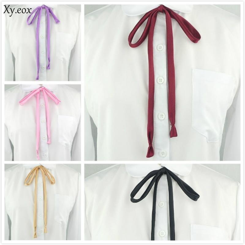 JK Uniform Collar Rope Girl Collar Rope Flare Sailor Suit Bow Tie Elegant Chic Collar Flower Ribbon