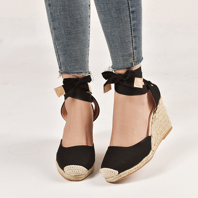 2019 Women Sandals Fashion Narrow Band Women Shoes Ankle Strap Women Wedge Shoes Female Beige Sandals Plus Size 34-432019 Women Sandals Fashion Narrow Band Women Shoes Ankle Strap Women Wedge Shoes Female Beige Sandals Plus Size 34-43
